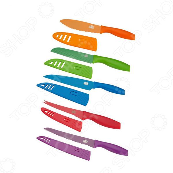 Набор цветных ножей с чехлами Stahlberg 6739-S