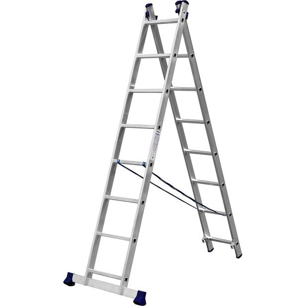 фото Лестница двухсекционная Сибин 38823. Количество ступеней: 8