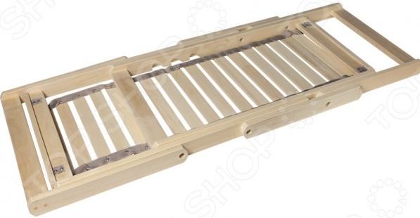 Шезлонг Банные штучки деревянный с подлокотниками 2