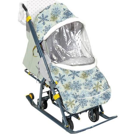 Купить Санки-коляска Ника «Наши детки». Рисунок: снежинки