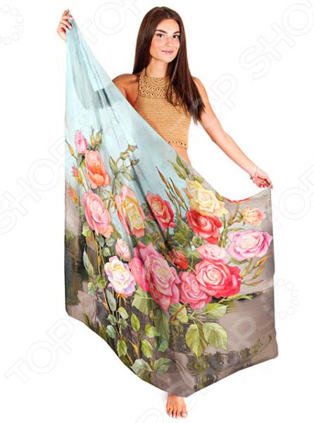Палантин ТамиТекс «Кустовые розы»