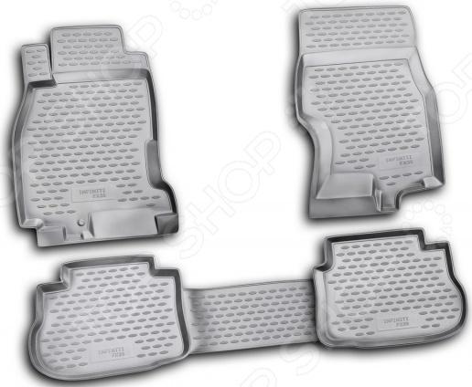 Комплект ковриков в салон автомобиля Novline-Autofamily Infiniti FX 35 2003-2009
