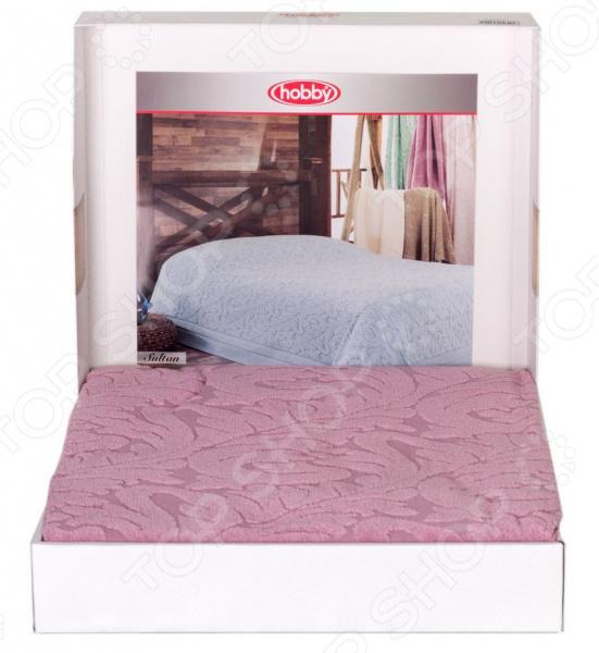 Покрывало махровое Hobby Home Collection Sultan. Цвет: розовый
