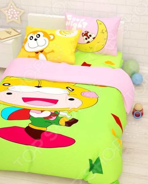 Детский комплект постельного белья Сирень «Веселье»