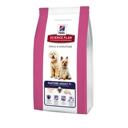 Купить Корм сухой для пожилых собак миниатюрных пород Hill's Science Plan 7+ с курицей и индейкой
