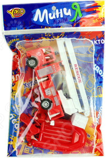Машинка игрушечная с аксессуарами Yako «Пожарная техника» 1724706 игровые наборы yako игровой набор пицца