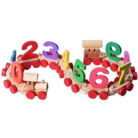 Купить Игрушка деревянная PAREMO в пакете «Паровозик с цифрами»