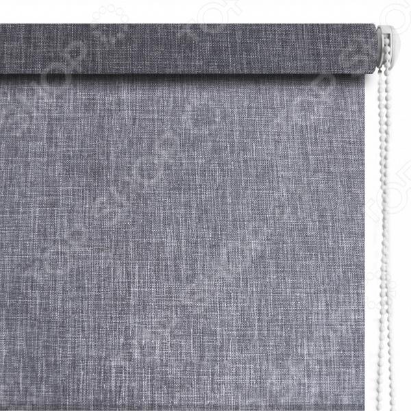 Рулонная штора Эскар «Меланж». Цвет: серый шторы рулонные ролло идея рулонная штора ролло lux samba цветы зеленый оранжевый желтый 160 см