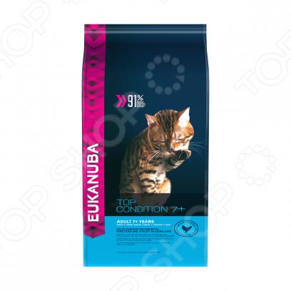 Корм сухой для пожилых кошек Eukanuba Top Condition с домашней птицей