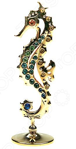 Фигурка декоративная Crystocraft «Морской конек» с кристаллами Swarovski ws 552 статуэтка русалка и морской конек 1197312