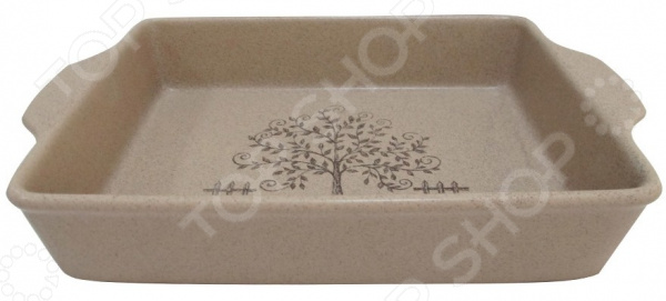 Форма для выпечки прямоугольная Terracotta «Дерево жизни» форма для выпекания керамика kitchenaid набор kblr02mbac 2шт по 0 45л