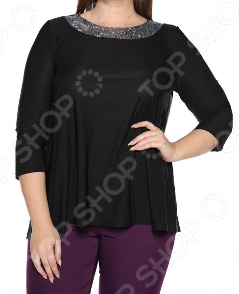 Блуза Лауме-Лайн «Сияющая мечта». Цвет: черный блуза incity цвет черный белый
