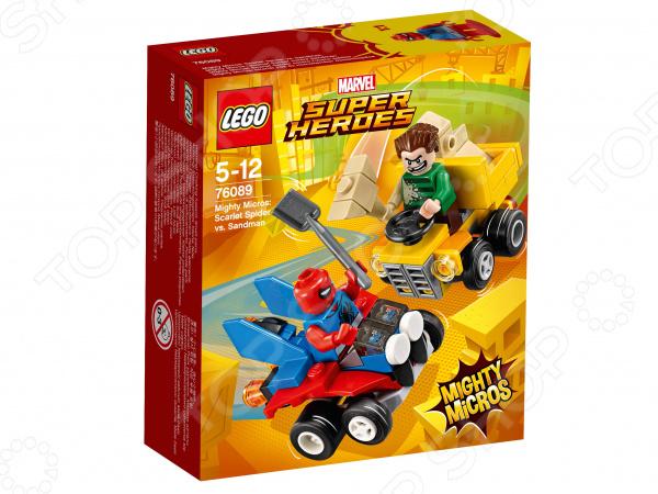 Конструктор игровой LEGO Super Heroes Mighty Micros «Человек-паук против Песочного человека» конструктор lego marvel super heroes реактивный самолёт мстителей 76049