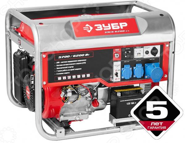 Генератор бензиновый Зубр ЗЭСБ-6200-ЭА генератор бензиновый зубр зиг 1200