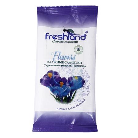 Купить Набор салфеток влажных универсальных Freshland PK-850104-12 Flowers