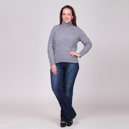 Купить Свитер Milana Style Кира. Цвет: серый