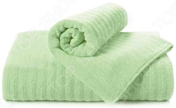 Полотенце махровое Aquarelle «Волна». Цвет: светло-зеленый