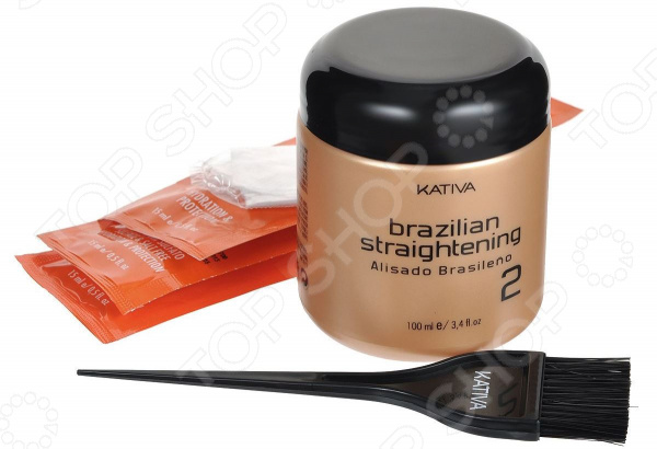 Набор для кератинового выпрямления и восстановления волос с маслом Арганы Kativa kativa кератиновый укрепляющий шампунь набор шампунь 100 мл кондиционер 100 мл