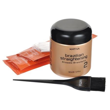 Купить Набор для кератинового выпрямления и восстановления волос с маслом Арганы Kativa