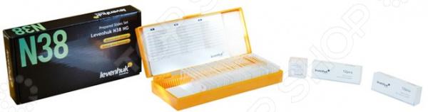Набор микропрепаратов Levenhuk N38 NG levenhuk g100 покровные стекла 100 штук