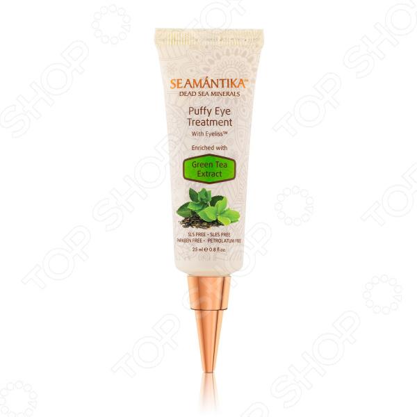 Лифтинг-крем от мешков под глазами с экстрактом зеленого чая Seamantika