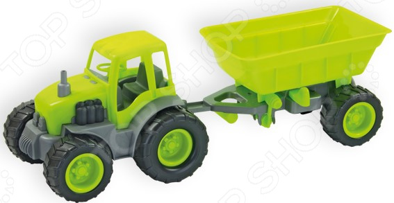 Трактор игрушечный Zebratoys с прицепом. В ассортименте