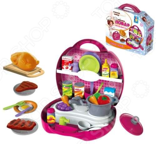 Игровой набор для ребенка 1 Toy в чемоданчике «Профи. Повар»
