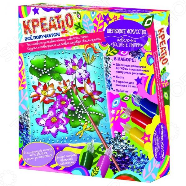 Набор для росписи по ткани Креатто «Наволочка: Водные лилии»