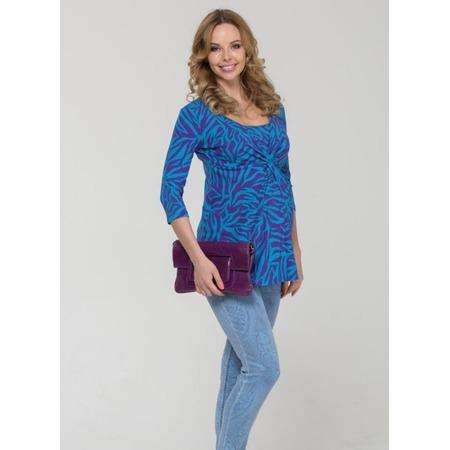 Купить Кофта для беременных Nuova Vita 1326.1. Цвет: бирюзовый, фиолетовый