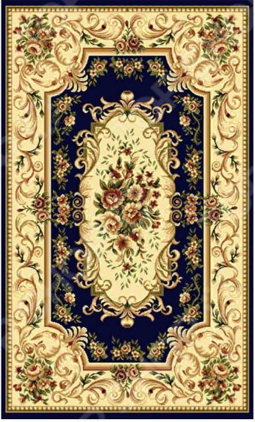Ковер прямоугольный Kamalak tekstil «Райский сад». Цвет: синий - артикул: 1602574