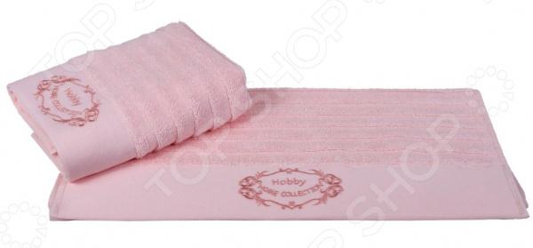 Полотенце махровое Hobby Home Collection Zafira. Цвет: персиковый