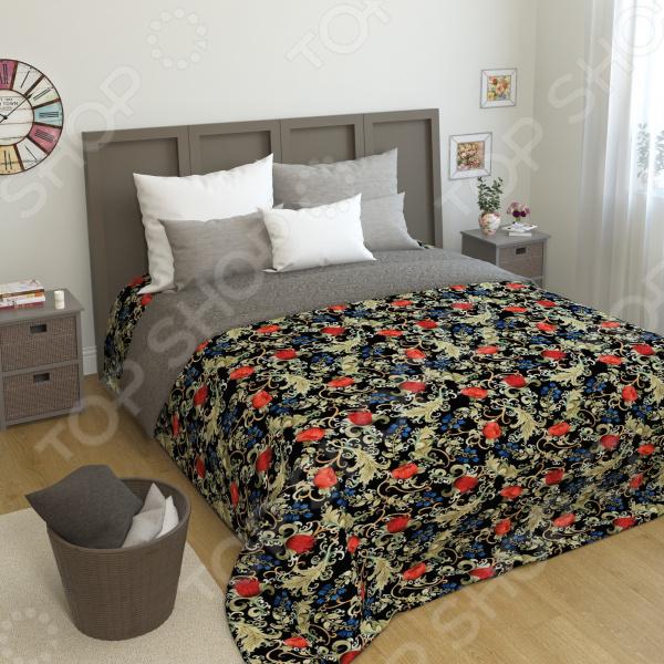 Покрывало стеганое Сирень «Аленький цветок» желтое покрывало на кровать