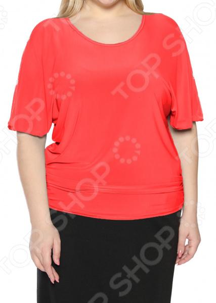 цена Блуза Pretty Woman «Фруктовый заряд». Цвет: коралловый онлайн в 2017 году