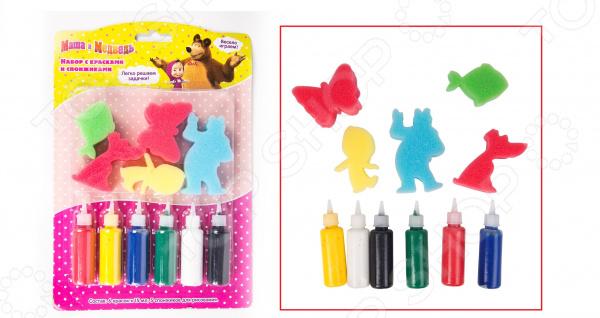 Набор красок со спонжиками Маша и Медведь 31075. В ассортименте