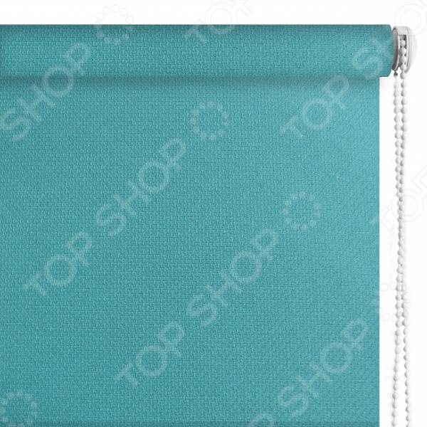 Рулонная штора Эскар «Рояль». Цвет: бирюзовый