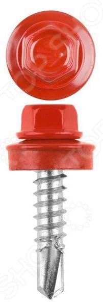 Набор саморезов кровельных Stayer СКМ для металлических конструкций. Цвет: красный