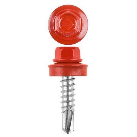 Купить Набор саморезов кровельных Stayer СКМ для металлических конструкций. Цвет: красный