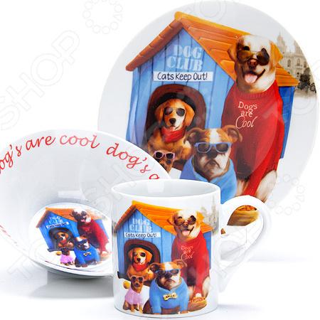 Набор посуды для детей Loraine LR-27121 «Собачка»