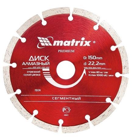 Купить Диск отрезной алмазный MATRIX Professional сегментный
