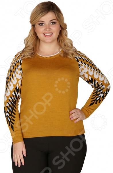 Джемпер VAY «Милда». Цвет: горчичный every набор чехлов для дивана every цвет горчичный