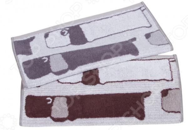 Комплект из 2-х махровых полотенец Dream Time «Таксы»