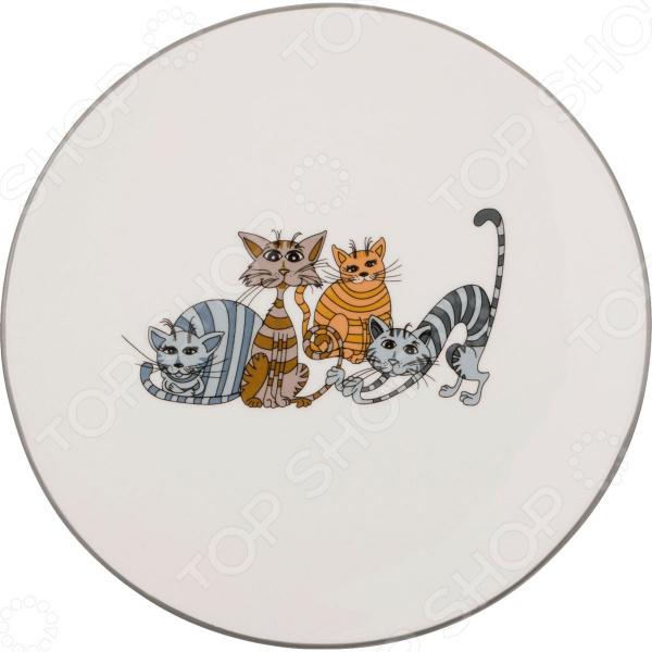 Тарелка десертная Lefard «Озорные коты» 188-106