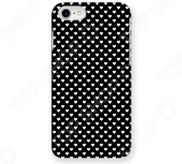 Чехол для iPhone 7 Mitya Veselkov «Белые сердечки на черном» чехол для iphone 7 plus звездочки на черном ip7plus mitya 022 mitya veselkov