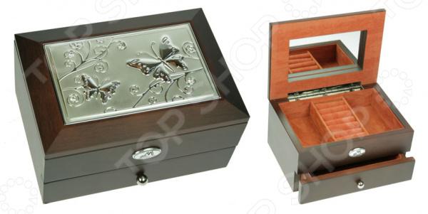 Шкатулка ювелирная двухъярусная со стразами Moretto 39852