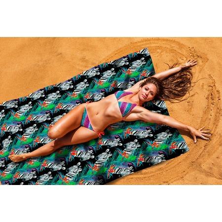 Купить Покрывало пляжное Сирень «Зебры»
