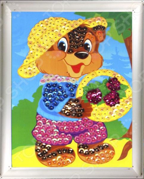 купить Мозаика из пайеток Азбука тойс «Мишка» по цене 339 рублей