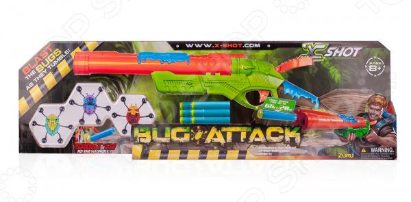 Ружье игрушечное X-Shot с мишенями «Атака Пауков» бластер boomco smart shot
