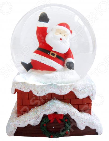 Снежный шар декоративный Crystal Deco «Санта»