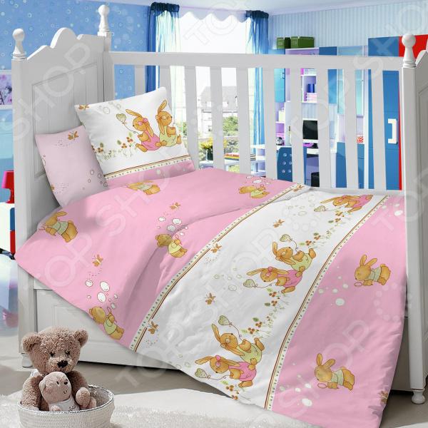 Ясельный комплект постельного белья Dream Time «Зайчата»