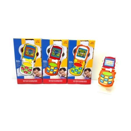 Купить Телефон развивающий музыкальный Huile Toys раскладушка. В ассортименте